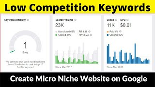 Low Competition Keywords #9 | Micro Niche Website | High Paying CPC