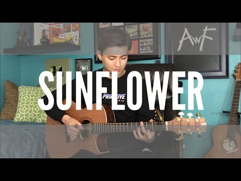 Sunflower - Post Malone / Swae Lee **BUT** it's played only on a guitar