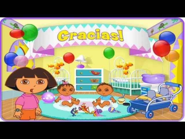 Dora the explorer: New Episode 2013 English for Kids ( Dora Playtime with the Twins )Cute baby Game Travel Video