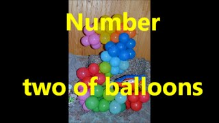 Цифра 2 из шаров / Number two of balloons