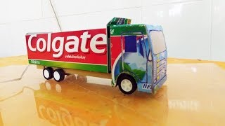 how to Make Colgate Truck Electric Toy Diy