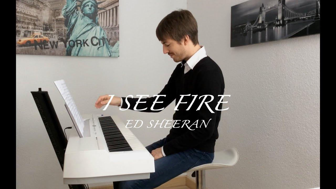 how to play ed sheeran i see fire