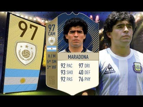 FIFA 18 - 165 centymentrów zniszczenia! - 97 Prime Diego Maradona!