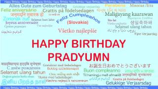 Pradyumn   Languages Idiomas - Happy Birthday