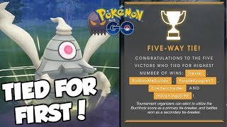 TIED FOR FIRST IN THE SINISTER CUP! Pokemon GO PvP Sinister Cup Great League TOURNAMENT!