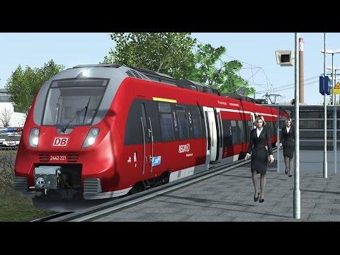 Talent 2 BR442 Triebzug nach Leipzig Nord Regionalbahn Führerstandsmitfahrt Train Simulator 2017