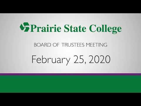 Prairie State College Board Meeting - February 25, 2020