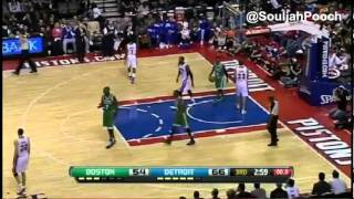 [HD] Rondo Throws Ball at Referee and Ejected - FEB.19.2012