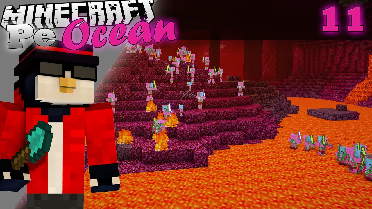 Minecraft Pe Ocean - Prima calatorie in Nether m-a ucis! [Ep.11, S.3]