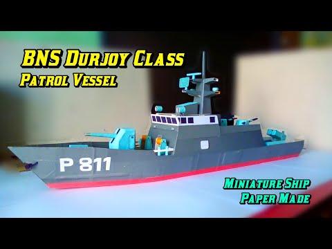 BNS Durjoy (Model Paper Boat)