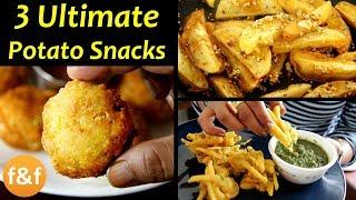 3 Aloo Snacks Recipes   Potato Snacks Recipes   Kids Snacks   Indian Evening Tea Snacks Recipes