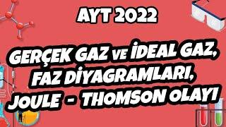 Gerçek Gaz ve İdeal Gaz, Faz Diyagramları, Joule - Thomson Olayı  AYT Kimya 2022 hedefekoş