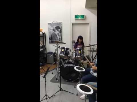 【中学二年14歳  ANRI】ドラム女子
