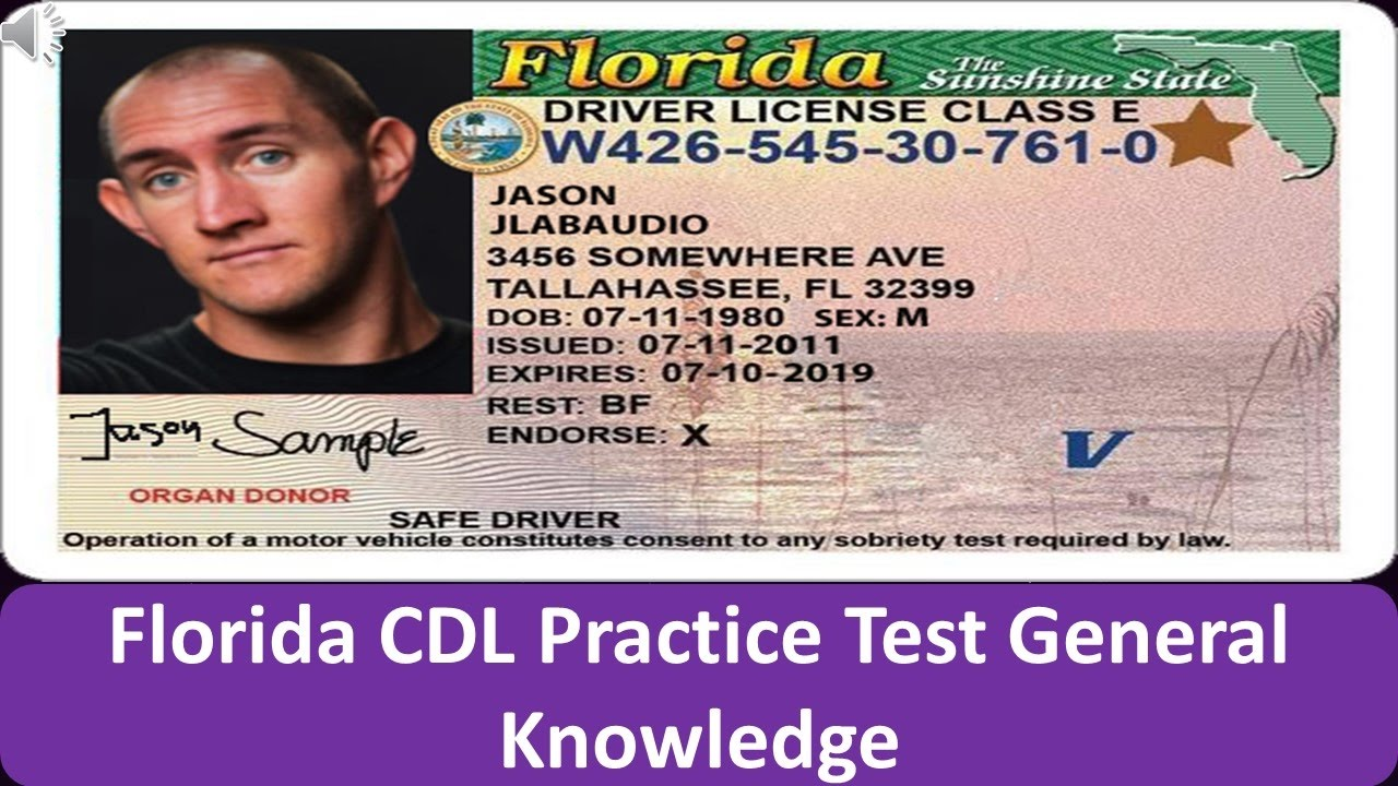 Cdl Practice Test General Knowledge >> Florida CDL Practice Test General Knowledge - YouTube