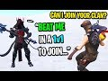 This Fortnite clan leader wants to 1v1 me so I can join his team... (I ACCEPTED!)