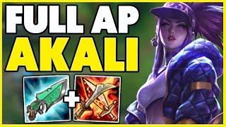 1 AKALI WORLD INFINITE AP ONE SHOT BUILD HUGE DAMAGE League of Legends