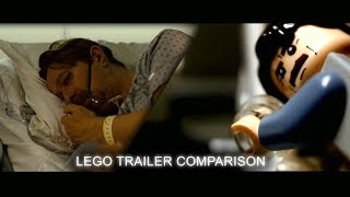 LEGO THE DARK KNIGHT RISES TRAILER SIDE BY SIDE COMPARISON [HD]