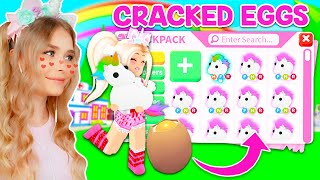 HATCHING *CRACKED EGGS* To Get MEGA NEON UNICORNS In Adopt Me! (Roblox)