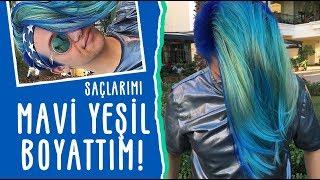 Gambar cover Saçlarımı MAVİ YEŞİL Boyattım!