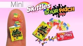 Miniature Skittles & Sour Patch Kids Tutorial // DIY Dolls/Dollhouse Candy