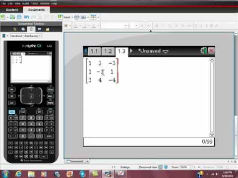 linear algebra ti nspire solving linear systems with matrices youtube. Black Bedroom Furniture Sets. Home Design Ideas