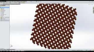 Моделирование кружально-сетчатой решетки