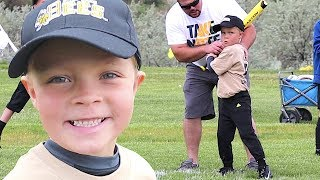 ⚾️6 Year Old SMASHES Coach Pitch Baseball! Video