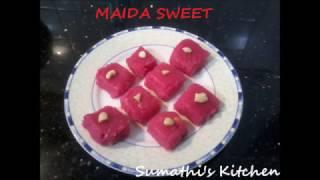 Maida Sweet/Maida cake/Maida Burfi/மைதா ஸ்வீட்/ English Subtitles.