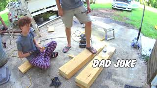 Father Son project DIY Car Ramps