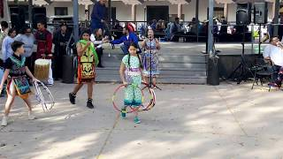 Indigenous Peoples Day Celebration 2017 Pueblo of Pojoaque Dancers and Youth Hoop Dancers Clip 4