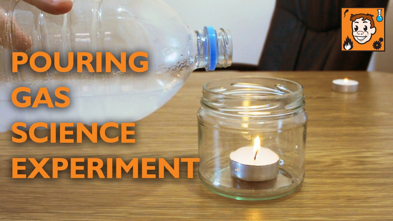 pouring gas on candle science experiment youtube