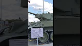 Vertical video. The average tank T-34-57 mod. 1941. Pyshma, Ekaterinburg, Russia