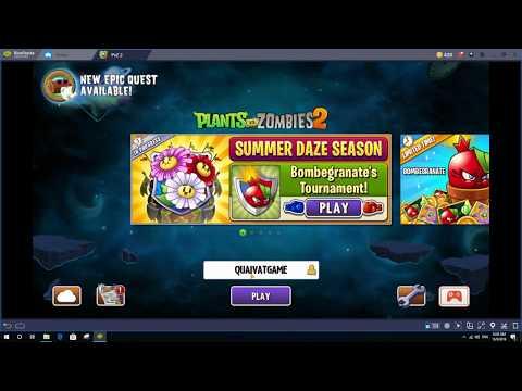 tai game plants vs zombies 2 hack cho pc - Plant vs Zombie 2 MOD - BlueStacks for PC - Setup - Full Plant & Coins & Gems