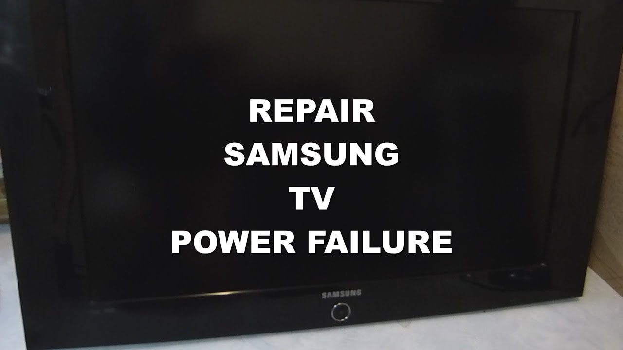 Repair Samsung LCD TV With A Flashing Standby Light Problem