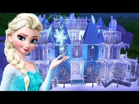 Frozen Elsa and Anna w/ Frozen Ice Castle!! (SIMS 4)
