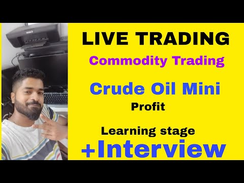 LIVE TRADING – Crude oil Mini – Profits – Learning Stage+ Interview