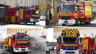Pompiers Lyon Engins Feu (compilation) Part 1