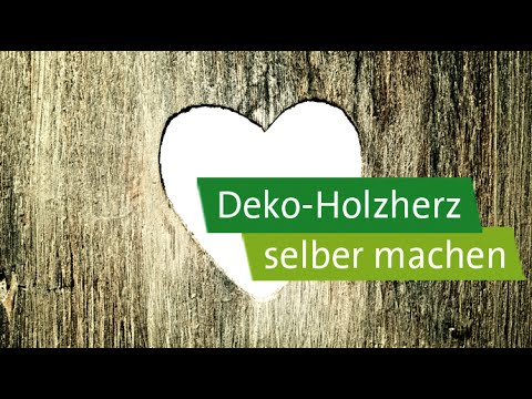 diy geschenke selber machen deko holzherz mit apfel youtube. Black Bedroom Furniture Sets. Home Design Ideas
