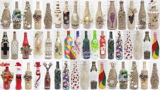 50+ Bottle decoration ideas | Bottle decoration with jute rope,clay,....