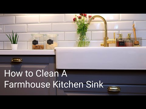 How to Clean A Farmhouse Kitchen Sink - Clean with Me