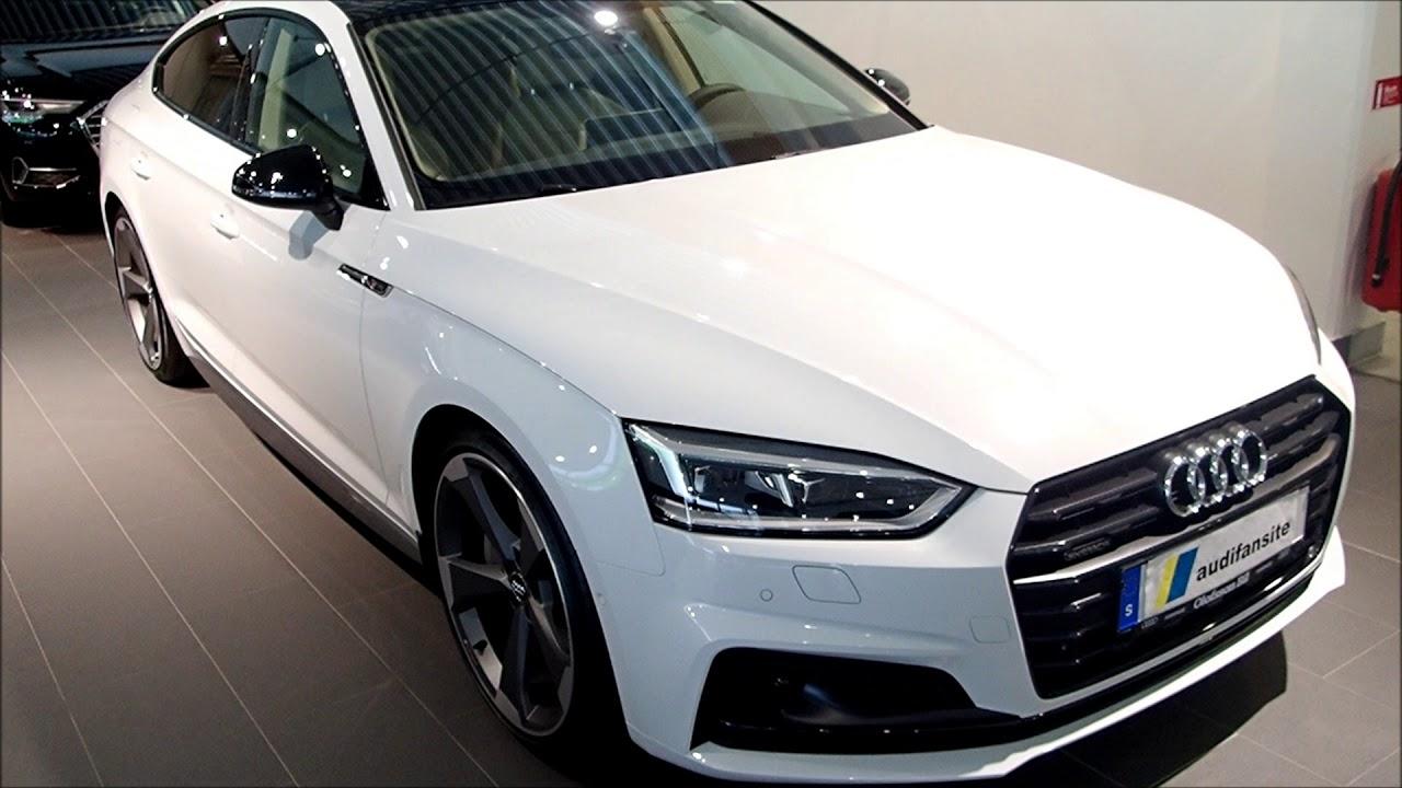 2019 Audi A5 Sportback Glacier white with black optic and ...