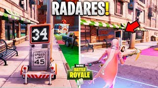MARK MORE than 30 ON RADAR BY PASSING THE SPEED TRAPS l Fortnite