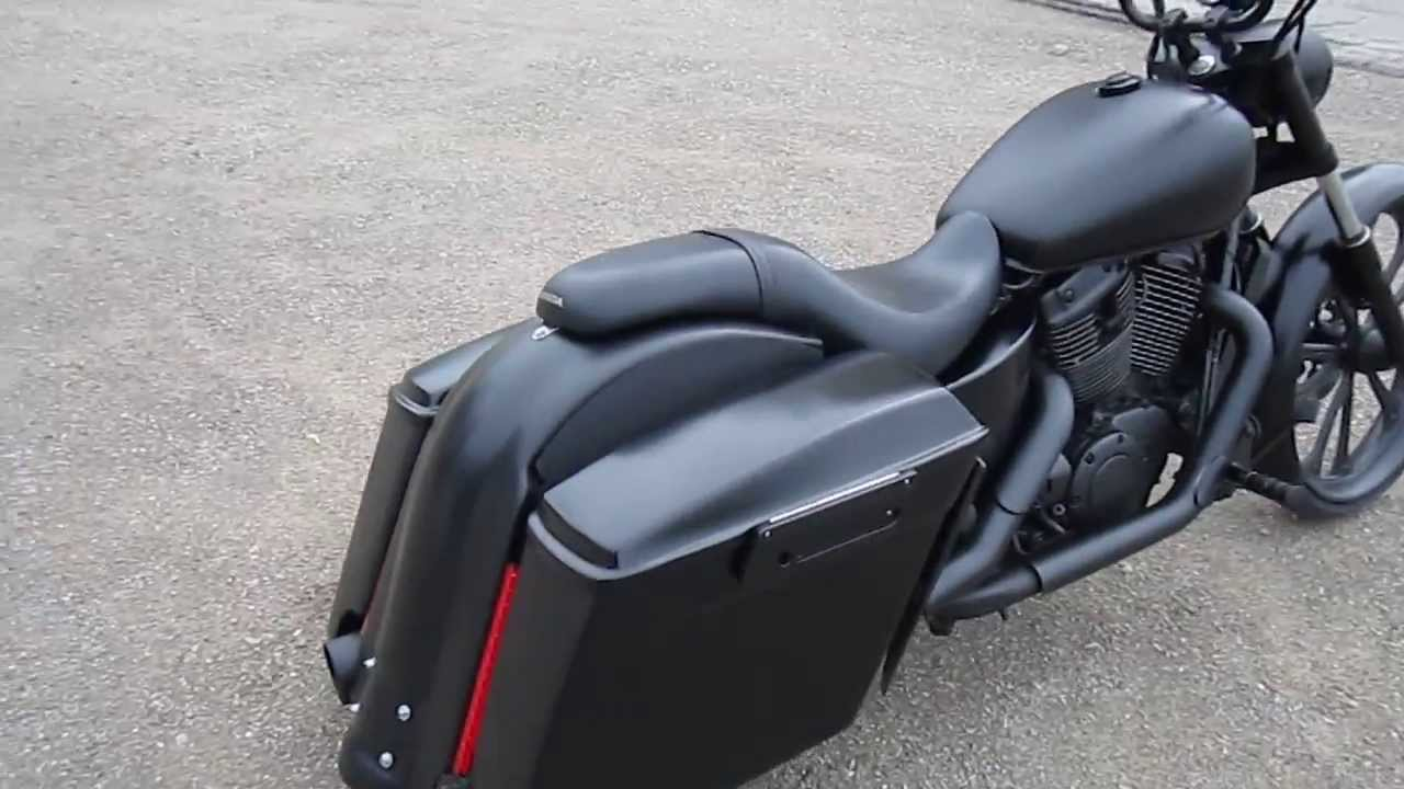 Custom Built Honda Shadow 1100 Bagger With 26 Inch Front Wheel
