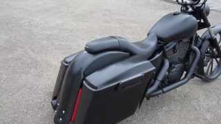Custom built honda shadow 1100 bagger with 26 inch front wheel.