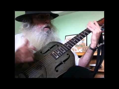 Guitar Lesson -Slide Guitar Blues Lesson in Open G Tuning. Mannish Boy On My National Steel NPB12!