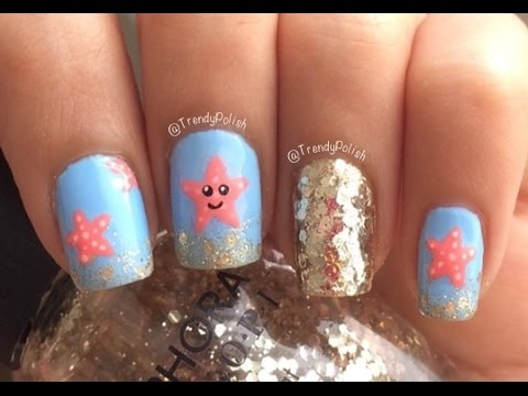 - Starfish Nail Art DIY Nail Stickers! - YouTube
