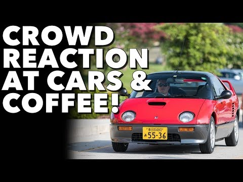People react to my tiny car at Cars & Coffee