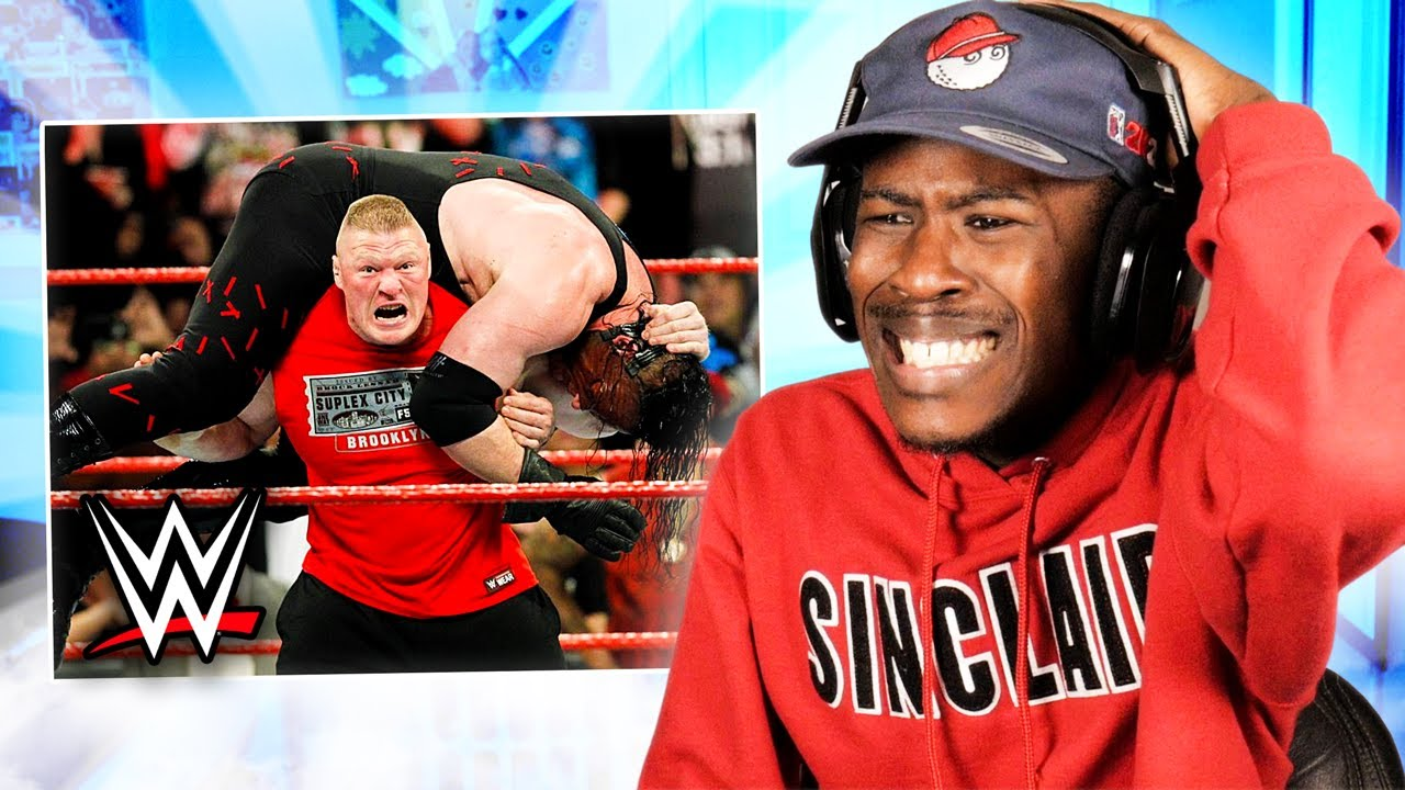 Reacting to WWE: The Most Devastating F5's by Brock Lesnar!