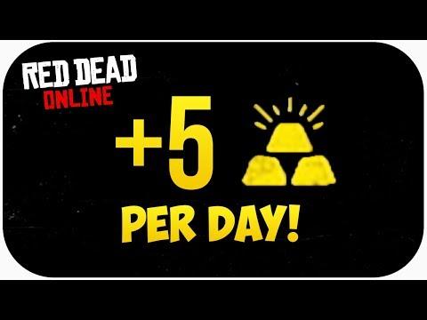 Red Dead Online: How To Get GOLD BARS In Red Dead Online! (Best Method)