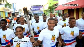 Videoclip Antorcha Juegos Nacionales 2018 Recorrido Barahona